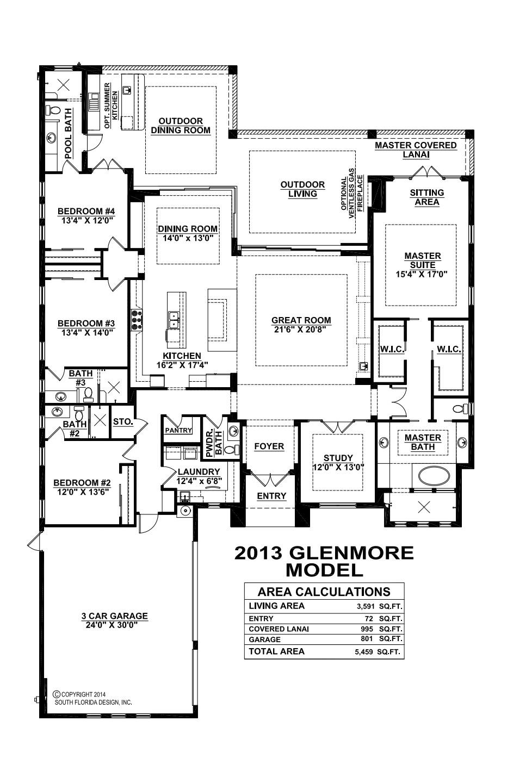 Stock Signature Homes Twin Eagles Glenmore Floor Plan