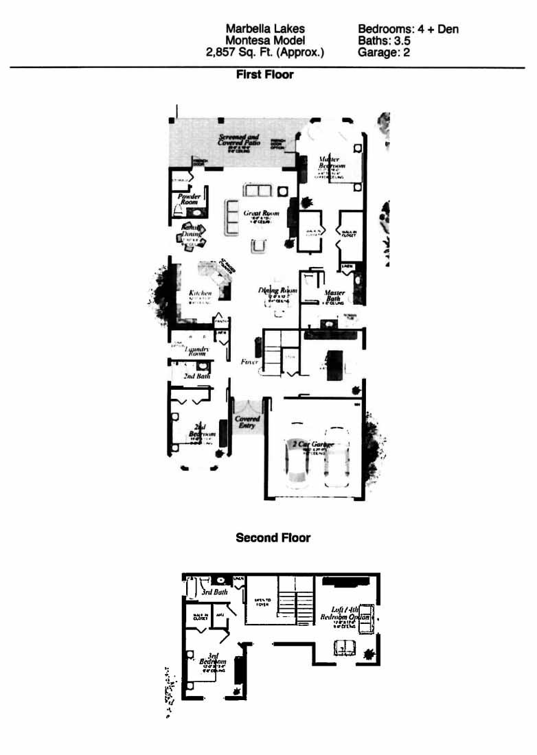Montesa Floor Plan - Marbella Lakes