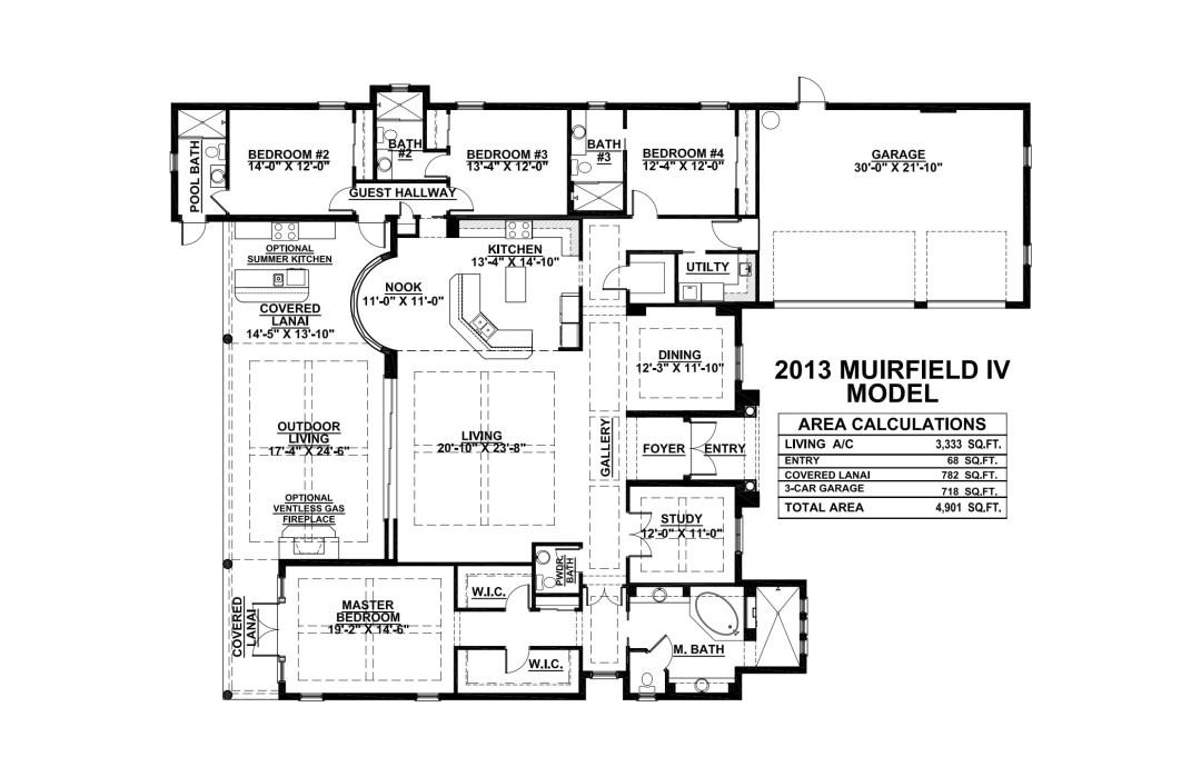 Stock Signature Homes Twin Eagles Muirfield IV Floor Plan