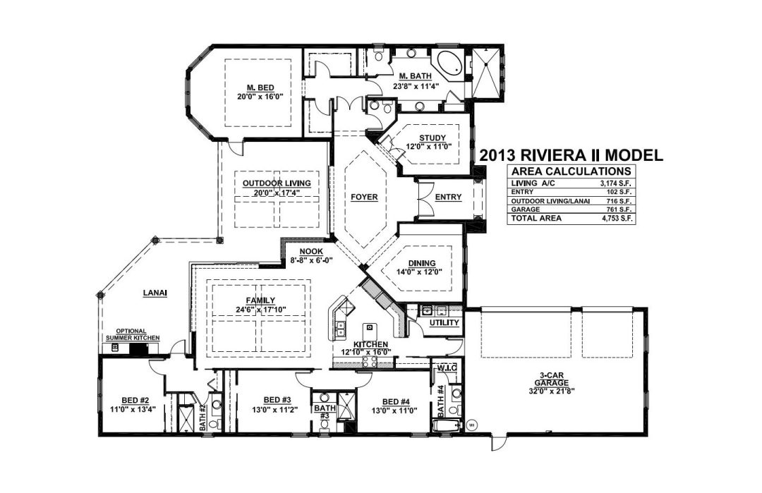 Stock Signature Homes Twin Eagles Riviera Floor Plan