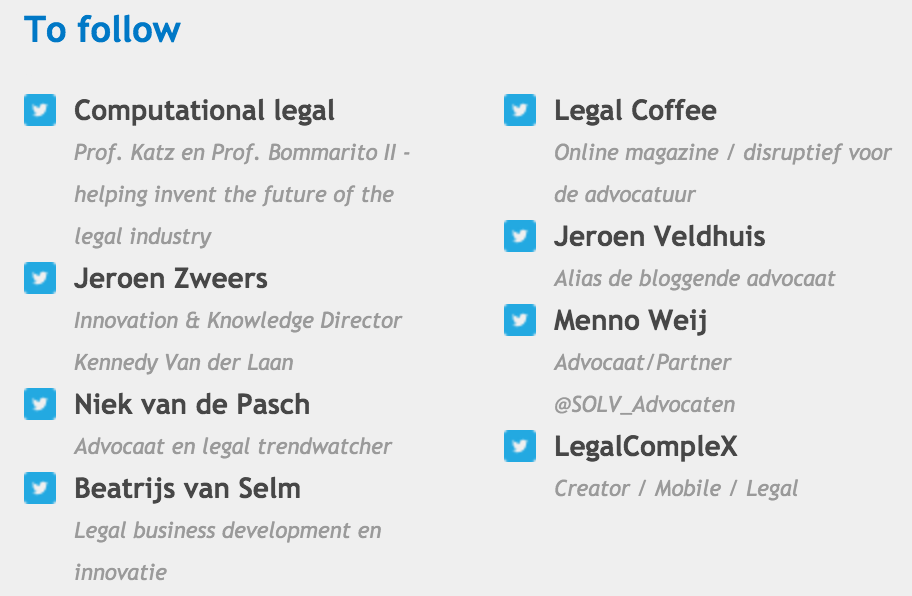 Who to follow on Twitter volgens WoltersKluwer