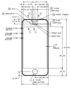 Schémas techniques pour iPhone 3, 4, 5 et iPad