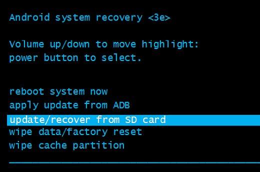 la recuperación androide