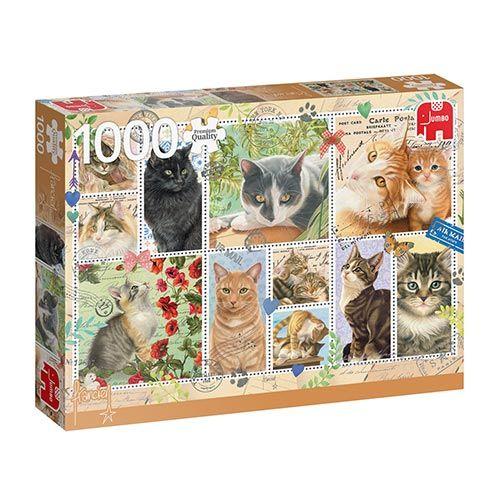 Jumbo Puzzel Cat Stamps  1000 st koopt u bij De Boet
