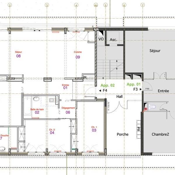 conception plan architecte De Bokay