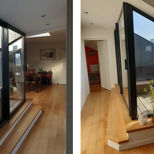 réalisation terrasse vue intérieure