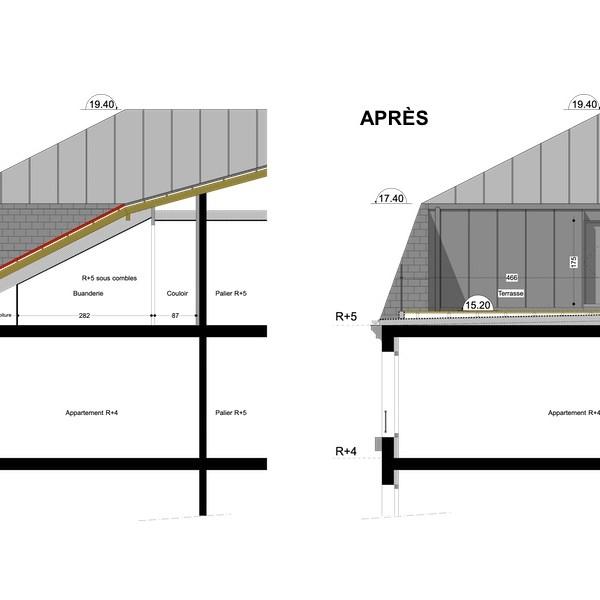 plan architecte terrasse