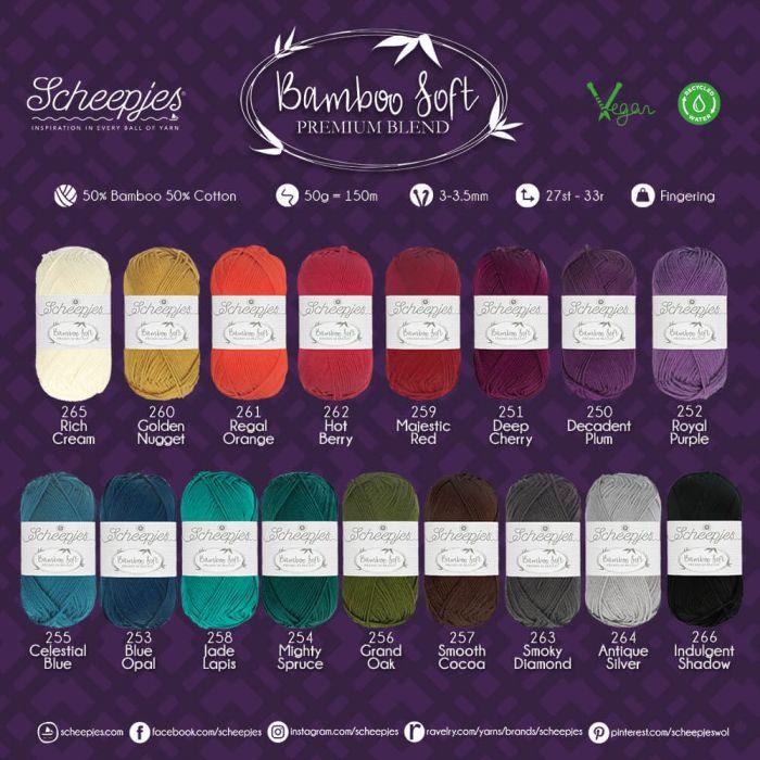 Scheepjes Bamboo Soft assortiment 5x50g - 17 kleuren - 1st