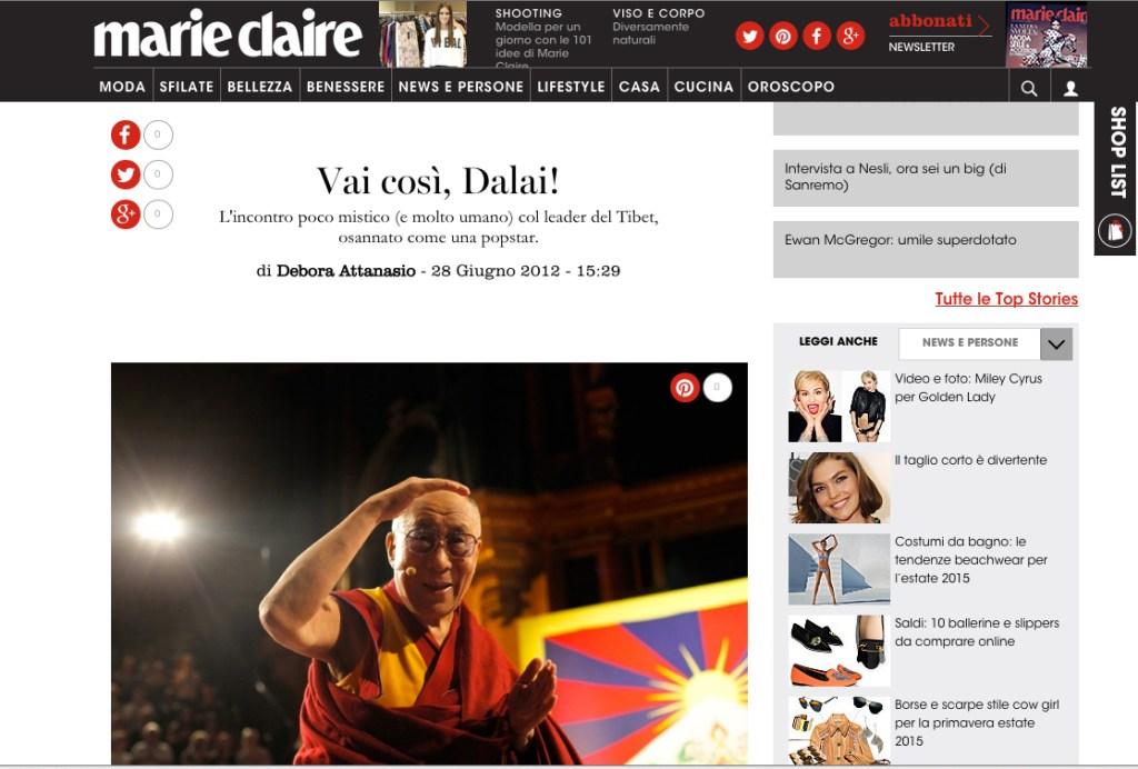 Vai così, Dalai Lama!