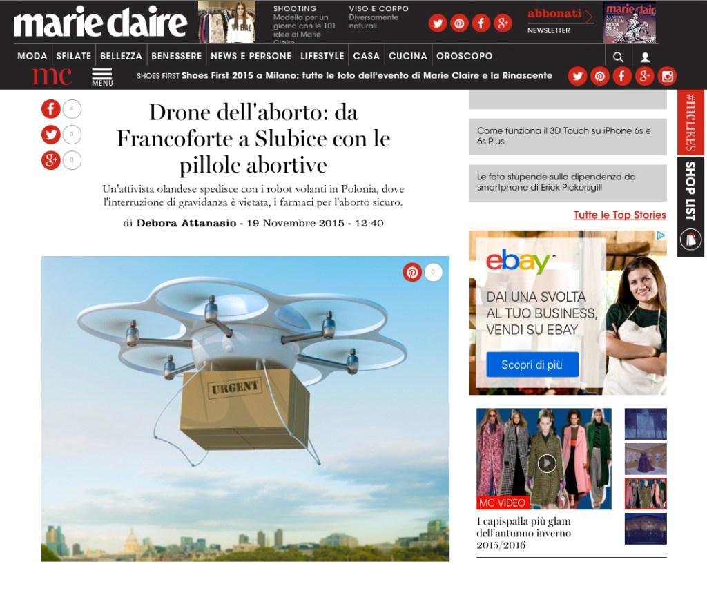 Un drone che aiuta ad abortire?