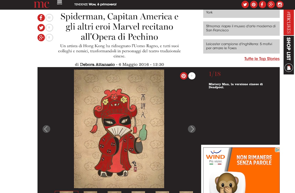 Spiderman, Capitan America e gli altri eroi Marvel all'Opera di Pechino