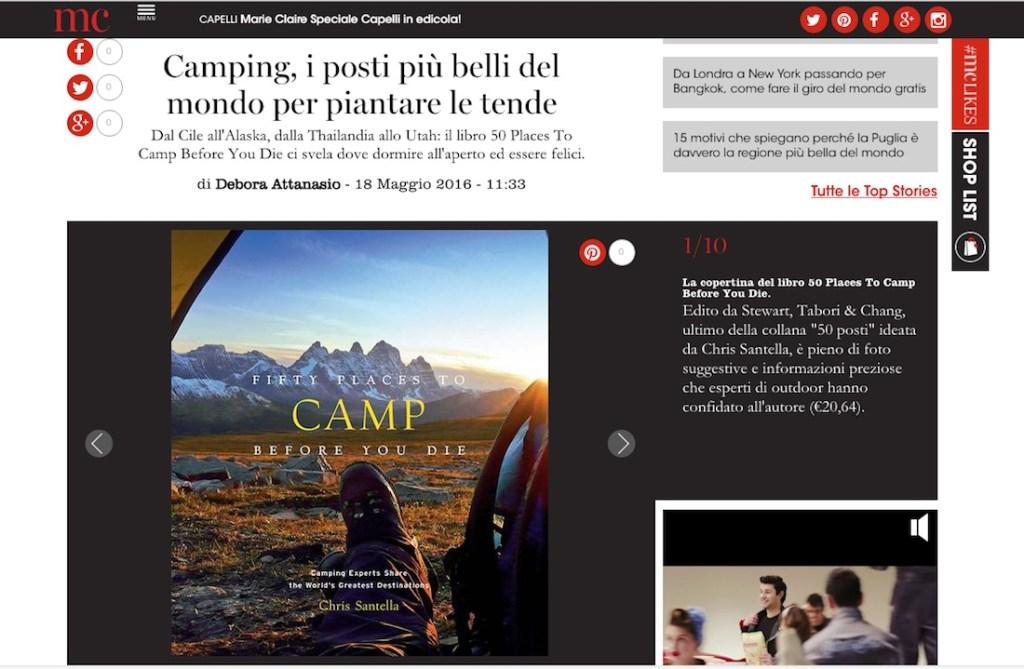 I 50 camping più belli del mondo
