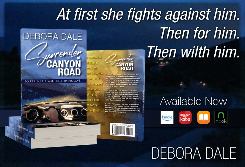 Surrender at Canyon Road book covers and link to Amazon listing