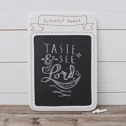 Daily Grace - Grateful Heart - Memo Chalkboard