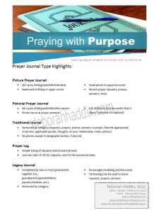 Prayer Journal Types