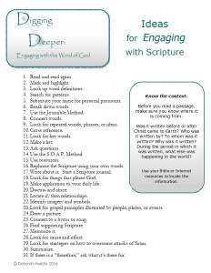 Ideas for Engaging with Scripture