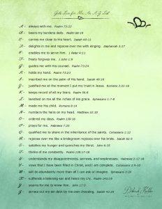 An A-Z list of ways God loves me,