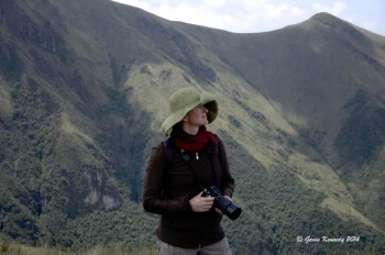 Deborah Jones taking photographs in Ecuador