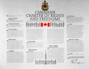 https://commons.wikimedia.org/wiki/File:Canadiancharterofrightsandfreedoms.jpg RICHARD FOOT, CC BY-SA 4.0 <https://creativecommons.org/licenses/by-sa/4.0>, via Wikimedia Commons