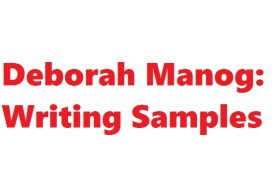Deborah Manog's Writing Samples
