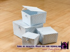 Weaved plastic baskets in Organization Ideas: Storage of School Supplies by Debra Kristi, author