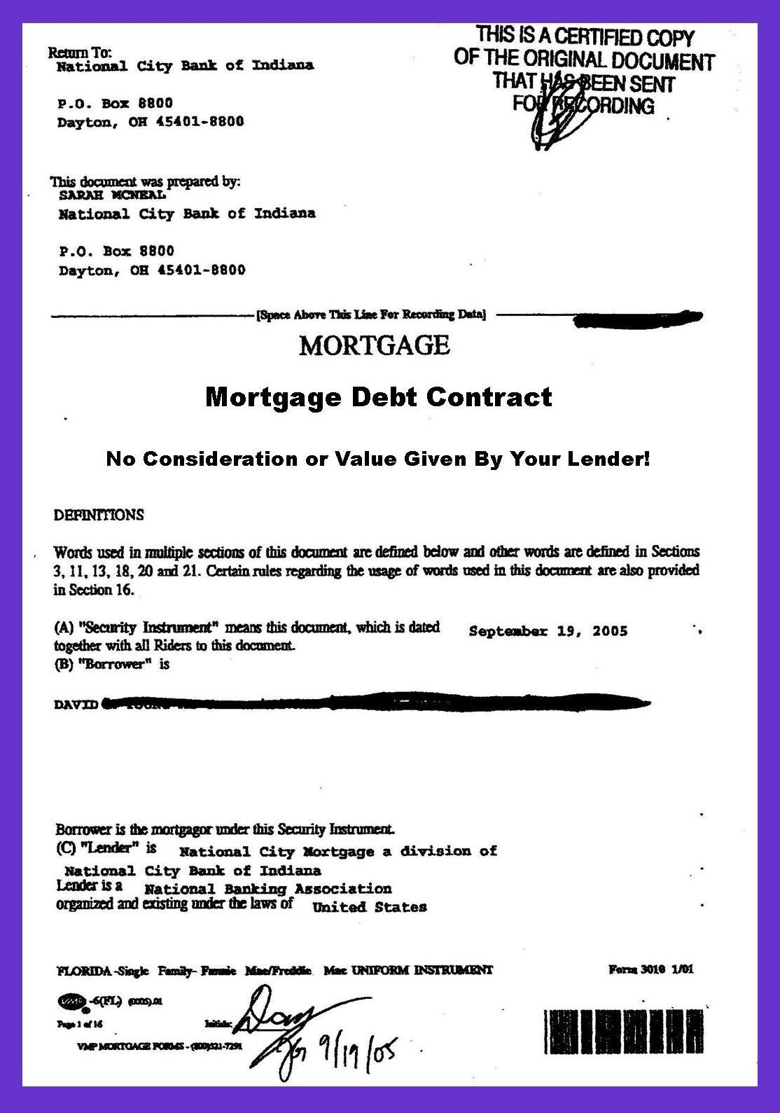 In Mortgage Debt? Your Lender Stole Your Mortgage Note Loan