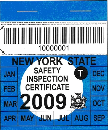 Nys Motor Vehicle Inspection Impremedia Net. Ny State Inspection Sticker  Expiration Custom