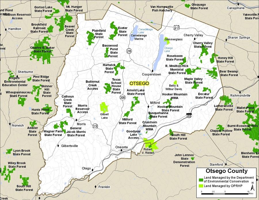 Map Otsego County Ny