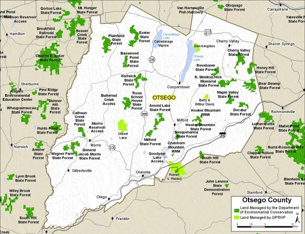 Otsego County Map NYS Dept of Environmental Conservation