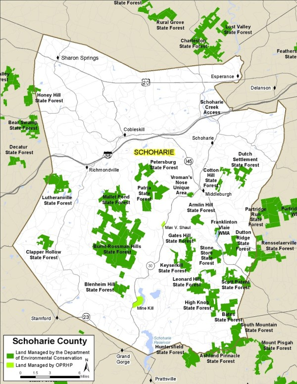 Schoharie County Map NYS Dept of Environmental Conservation