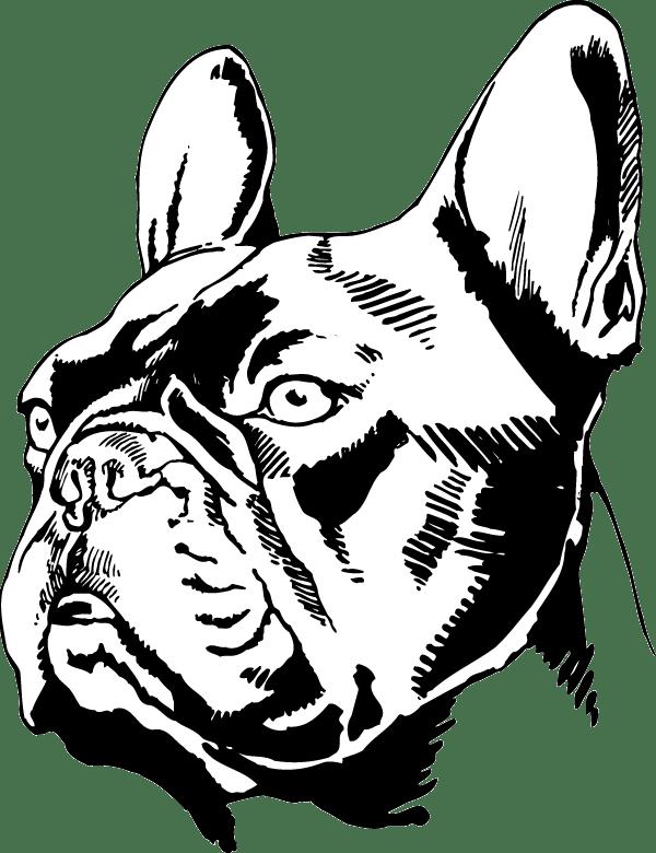 French Bulldog Head Decal