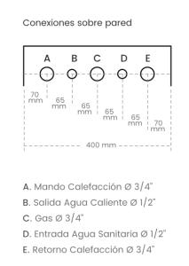 conexion pared baxi main 5