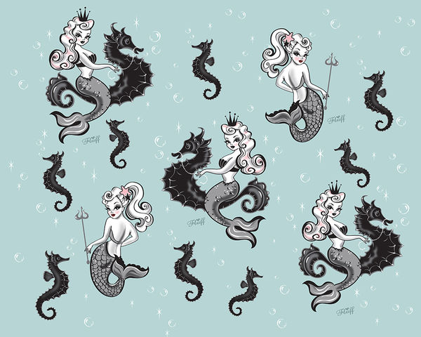 Vintage Mermaid Wallpaper