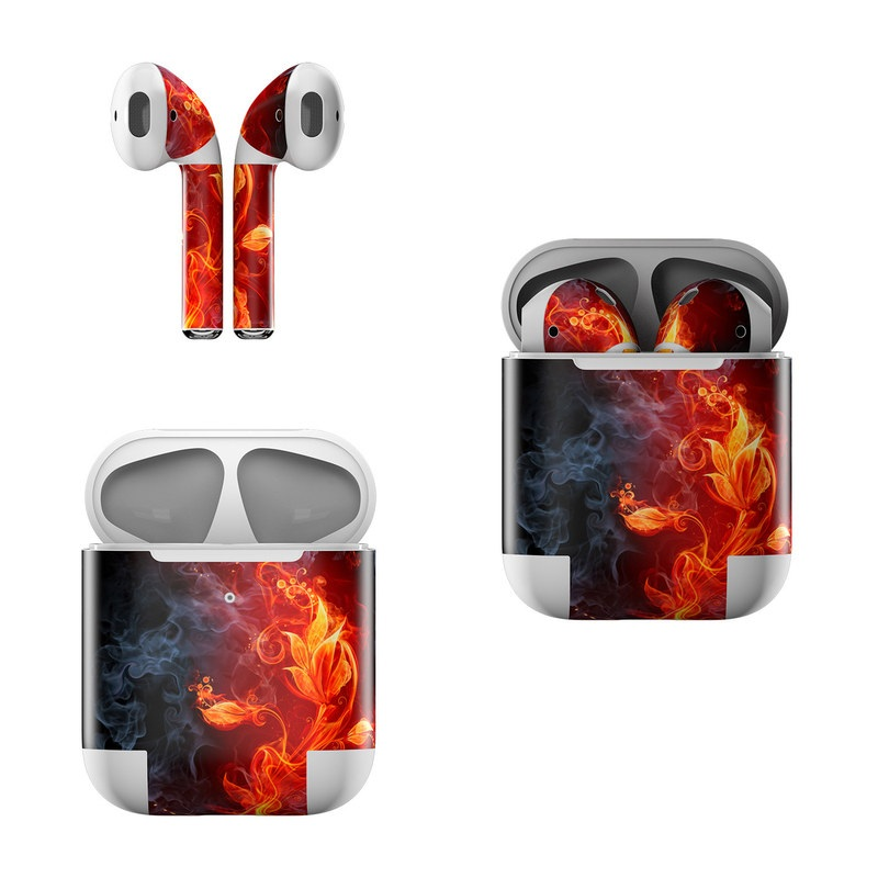 Apple AirPods Skin Flower Of Fire By Gaming DecalGirl