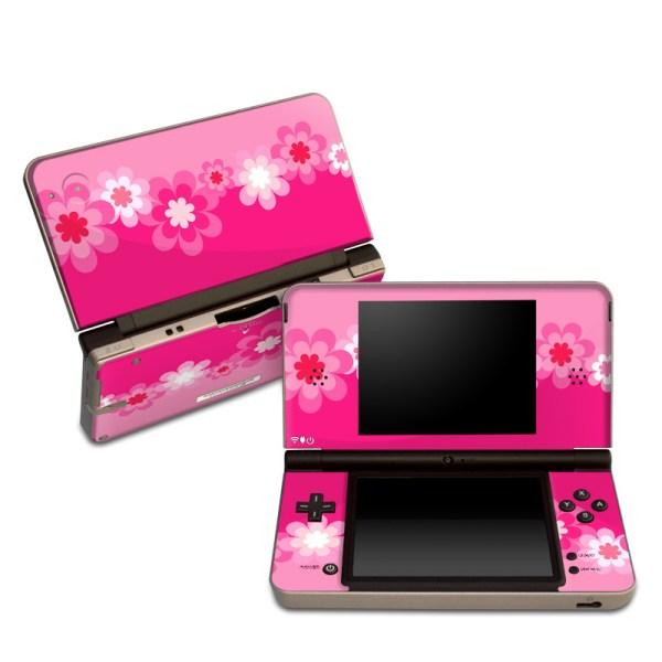 Dsi Xl Skin - Retro Pink Flowers Decalgirl