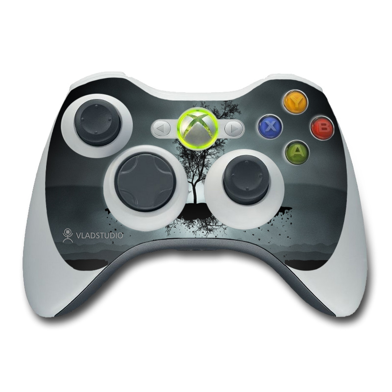 Xbox 360 Controller Skin Flying Tree Black By Vlad