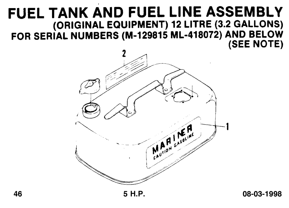 medium resolution of fuel tank and fuel line assembly diagram 96387 48 p46