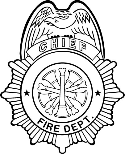 Chief Fire Dept Shield : Decals and Stickers, The Home of