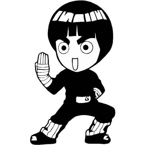Chibi Rock Lee Manga Anime : Decals and Stickers, The Home