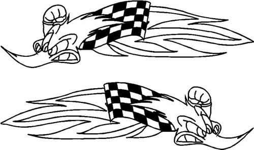Woody Woodpecker Racing : Decals and Stickers, The Home of
