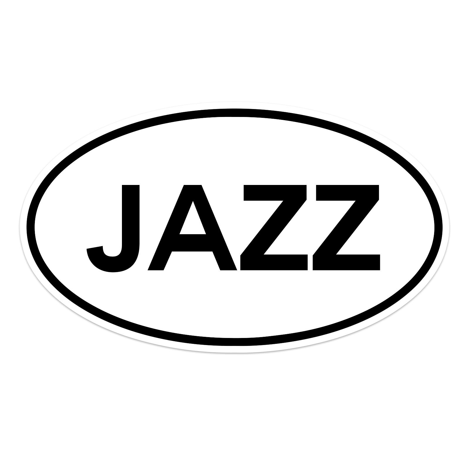Jazz Oval Guitar Instrument Case Sticker