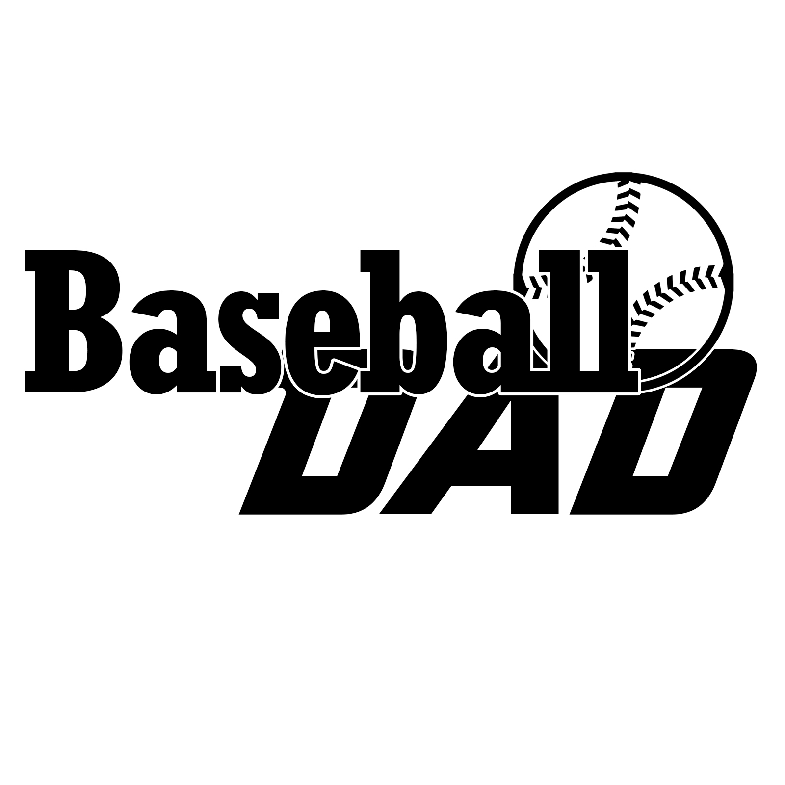 Baseball Dad Sports Vinyl Decal