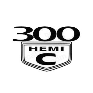 Chrysler 300c hemi chrysler transport (models), decal