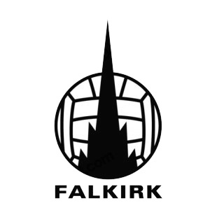 Falkirk football club soccer team logo soccer teams decals
