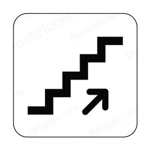Stairs up sign other signs decals, decal sticker #7193