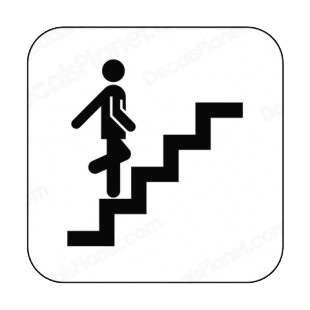Stairs up sign other signs decals, decal sticker #8662