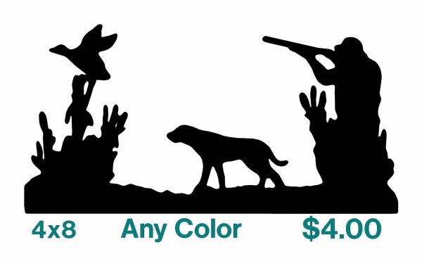 Duck Hunting Silhouette Decals