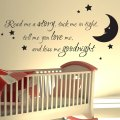 Nursery wall sticker read me a story kids art decals quotes w47 ebay