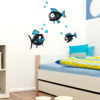 fish wall decals 2017 - Grasscloth Wallpaper