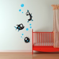 Fish Wall Stickers 2 - Kids Wall Stickers